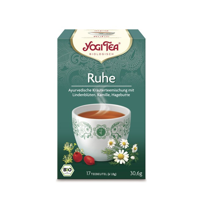 In die Ruhe kommen mit Linde und Kamille im Ruhe Tee von Yogi Tea in Bio Qualität