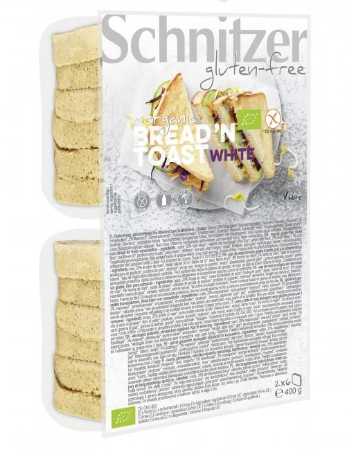 Schnitzer : Glutenfreies Bread´n Toast White Maisbrot, bio (400g)