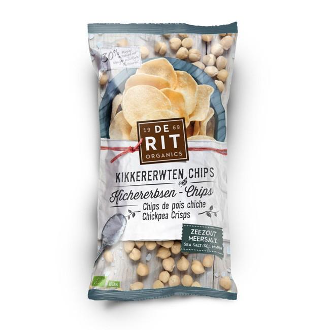 Bio Kichererbsen Chips mit Meersalz von De Rit - Gemüsechips