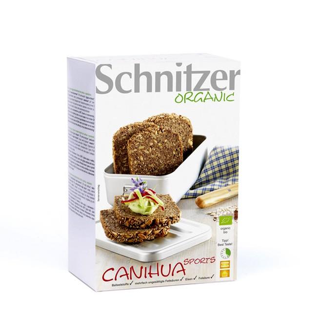 Schnitzer Canihua Sports Brot ballaststoffreiches Bio Sportlerbrotaus heimischen Brotgetreiden, mit wertvollem Canihuamehl