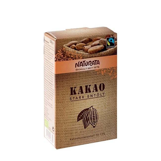 Naturata Fairtrade Kakao stark entölt 125g