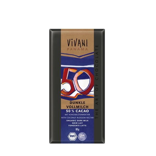 Vollmilchschokolade mit Kokosblütenzucker von Vivani 80g