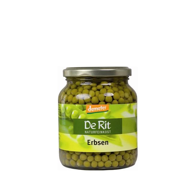 Bio Erbsen im Glas von De Rit (350g)