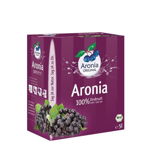 100% Bio Aronia Direktsaft im 5 Liter Pack mit Zapfhahn - Aronia ORIGINAL