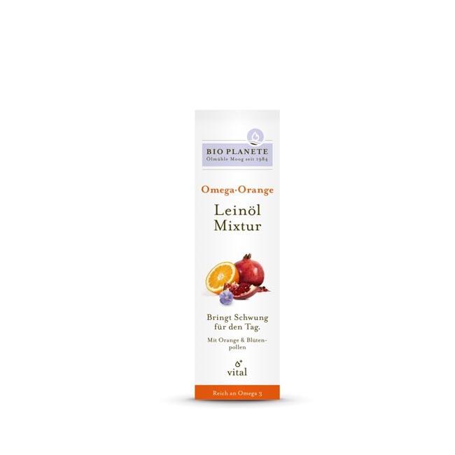 Bio Planète Omega Orange Leinöl-Mixtur, bio 100ml