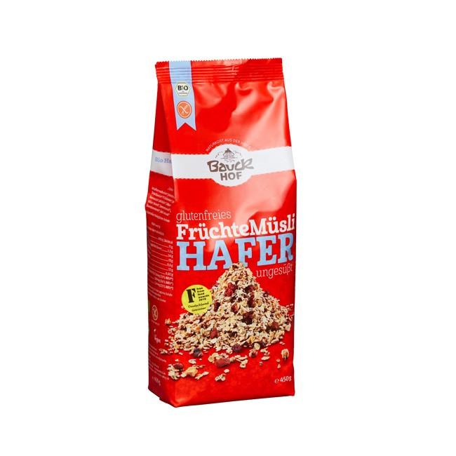 Bauckhof Hafermüsli mit Früchten, bio und glutenfrei (450g)