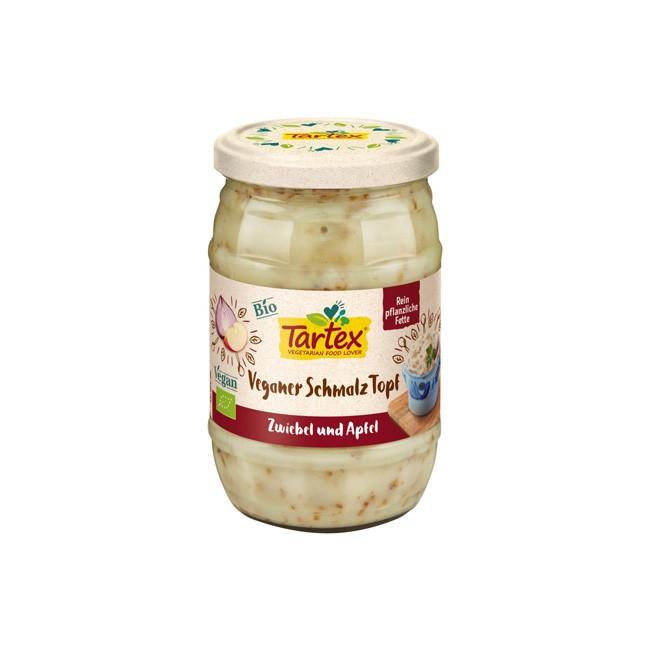 Tartex veganer Schmalz Topf Zwiebel und Äpfel 250g-bio