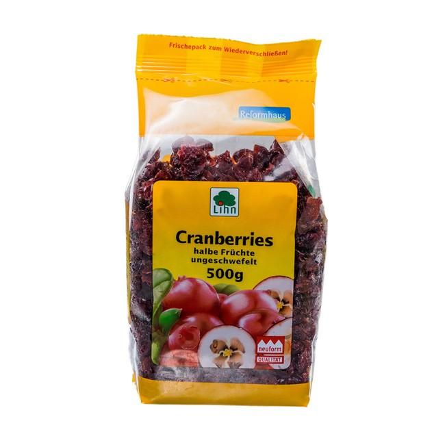 Lihn HOLO Cranberries halbe Früchte, ungeschwefelt 500g