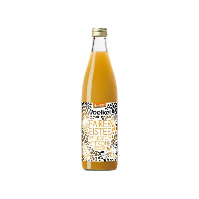 Voelkel: Fairer Eistee Pfirsisch Zitrone, demeter (500ml)