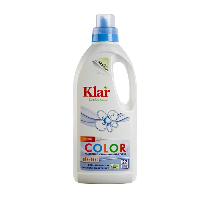 Flüssiges Color Waschmittel von KLAR aus dem Hause AlmaWin