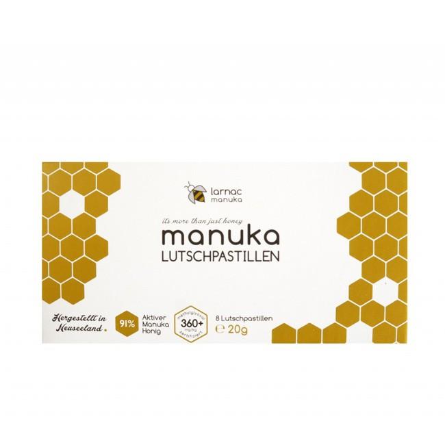 Larnac Manuka Lutschpastillen mit neusseländischen Manuka Honig (8 Stück/Packung)