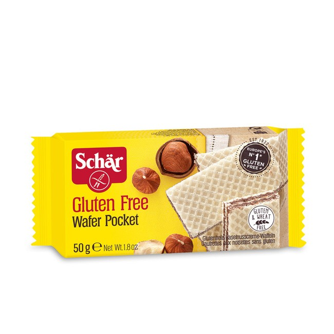 Dr.Schär Wafer Pocket mit Haselnuss Glutenfrei 50g