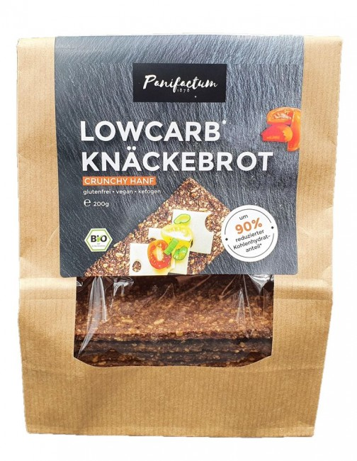Panifactum : Lowcarb Knäckebrot Crunchy Hanf, bio (200g)