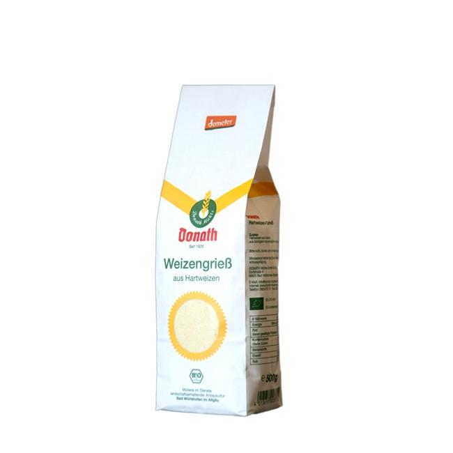 Weizengriess mit Schalenteilen Demeter Qualität von Donath Mühle (500g)