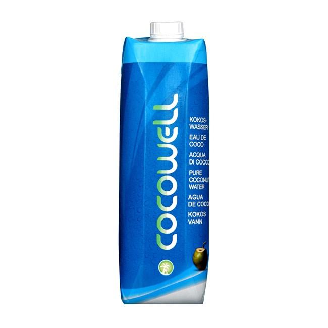 1l Kokoswasser von Cocowell Bio und isotonisch