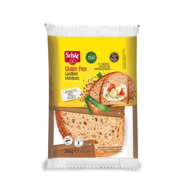 glutenfreies Landbrot Mehrkorn mit Chia, Leinsamen und Sonnenblumenkernen