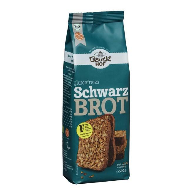 Glutenfreies Schwarzbrot als Brotbackmischung von Bauckhof