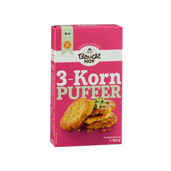 3-Korn-Puffer Fertigmischung, rein pflanzlich 160g