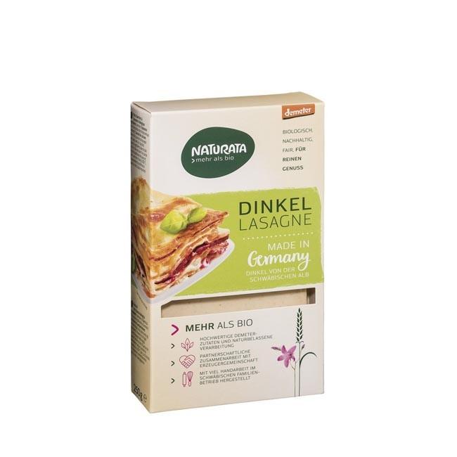 Naturata Dinkel Lasagne Blätter, demeter 250g