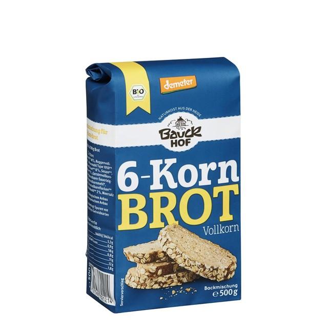 Bauckhof Demeter Backmischung für ein leckeres 6-Korn-Vollkornbrot