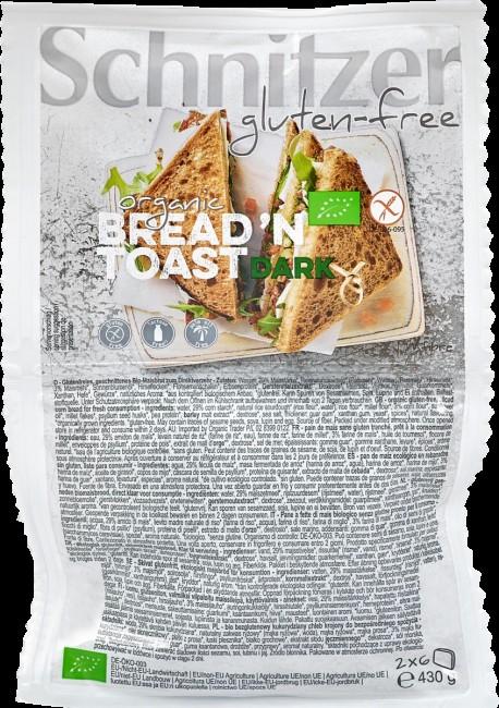 Schnitzer : Glutenfreies Bread'n Toast Dark Maisbrot, bio (430g)