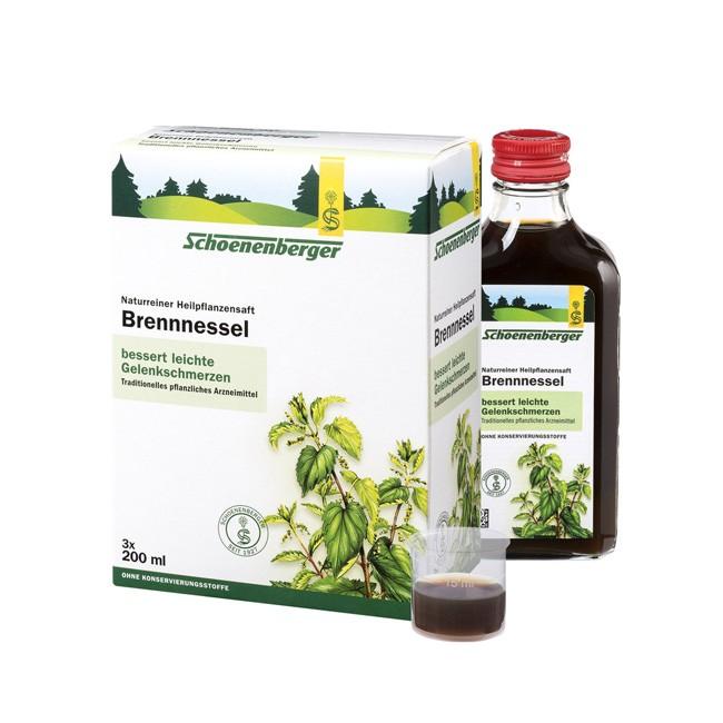 Schoenenberger : Brennnessel - Naturreiner Heilpflanzensaft, bio (3x200ml)**