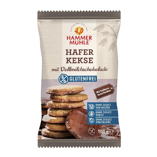 Hammermühle : Glutenfreie Haferkekse mit Vollmilchschokolade (100g)