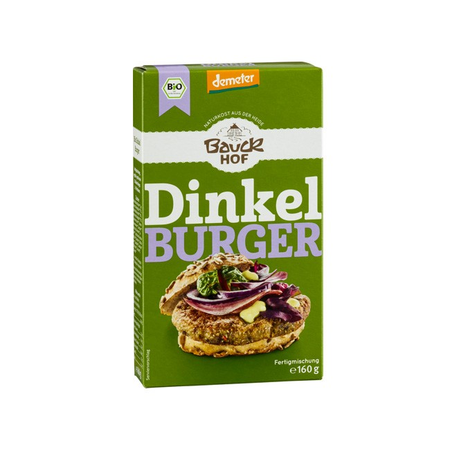 Dinkel Burger Fertigmischung ohne Weizen 160g Demeter