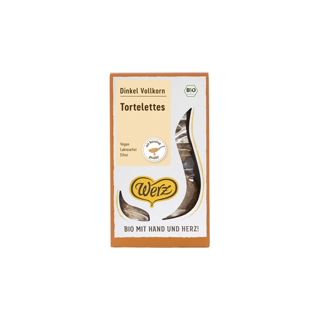 Werz: Dinkel-Vollkorn Tortelettes bio, 115g