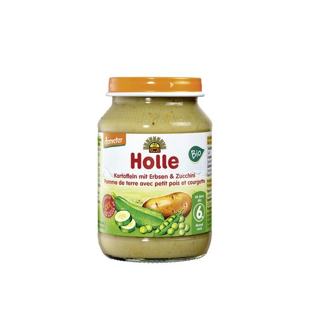 Bio Babymenü - Kartoffeln Erbsen und Zucchini 190g Holle