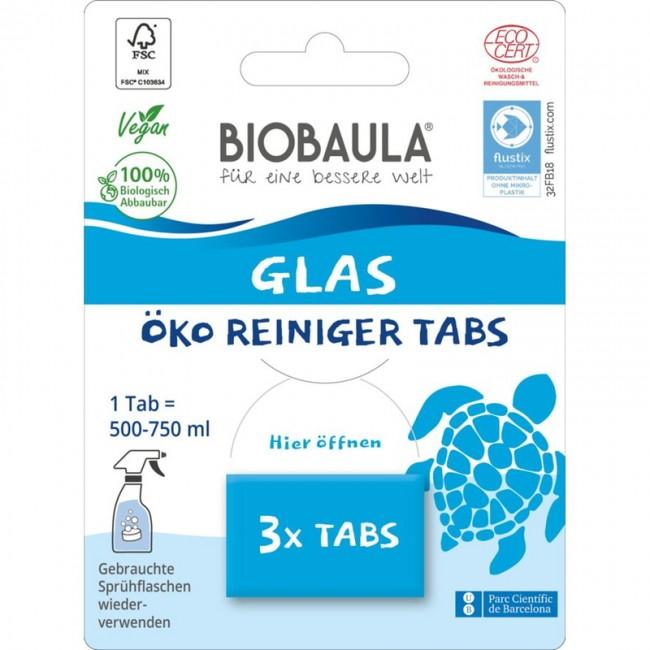 Biobaula : Glasreiniger-Tabs, bio (3 Tabs)