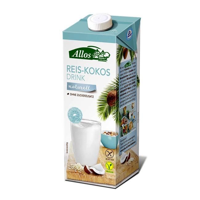 Allos Pflanzendrink mit Reis und Kokos - ohne Zuckerzusatz, bio 1l