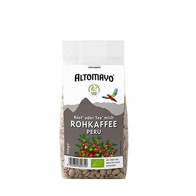Altomayo Bio Rohkaffee aus Peru zum Aufbrühen oder selber rösten 250g