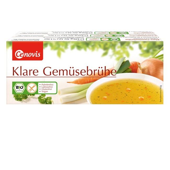Cenovis glutenfreie klare Gemüsebrühe, vegan, 3x12 Würfel