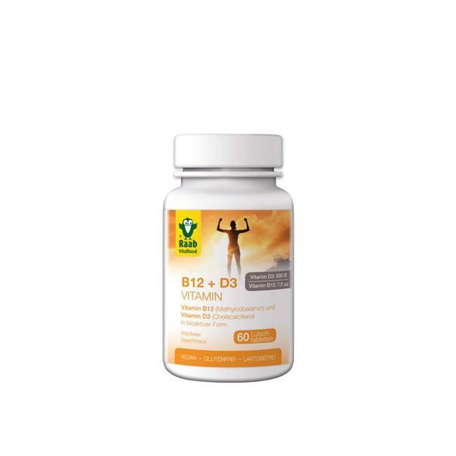 Raab Vitamin B12 und D3 60 Lutschtabletten