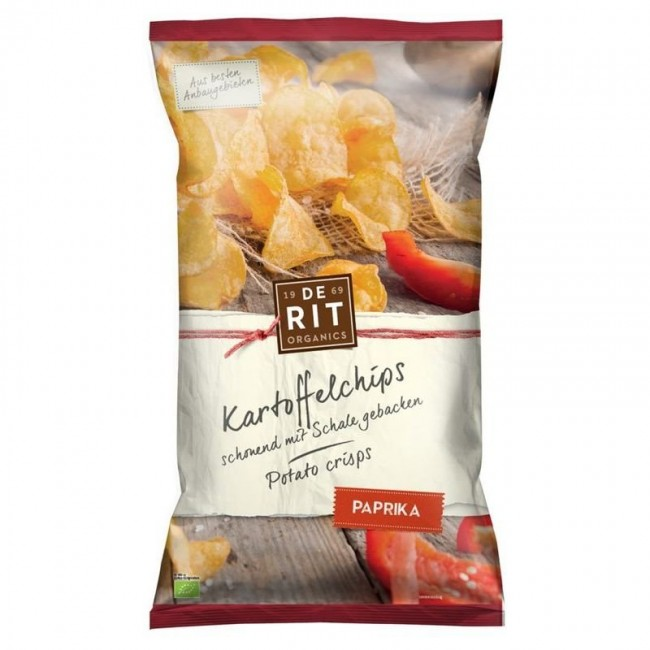 De Rit : Kartoffelchips Paprika, bio (125g)