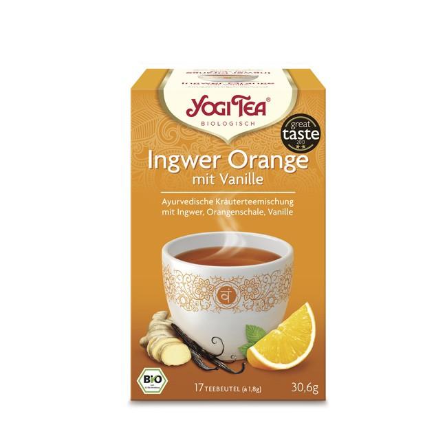 Yogi Tea Ingwer Orange mit Vanille Koscher Vegan mit Pfefferminze und Zitronengras