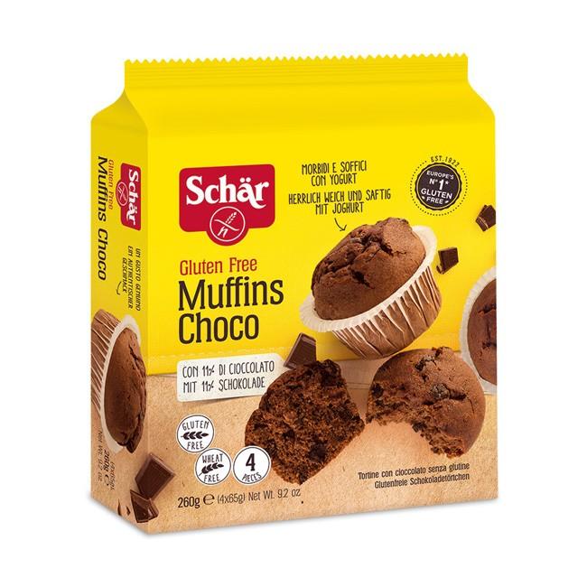 Dr.Schär Glutenfreie Schoko Mufffins herrlich weich und saftig mit Joghurt 260g