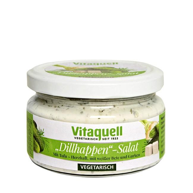 Dillhappen-Salat vegetarisch von Vitaquell im 200g Glas