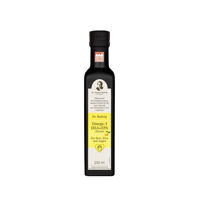 Dr. Budwig Omega 3 DHA + EPA Zitrone 250ml