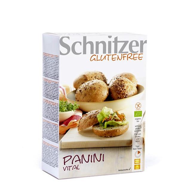 Schnitzer glutenfree: Bio Vital Panini mit knuspriger Kruste , auf Basis von Mais und Amaranth