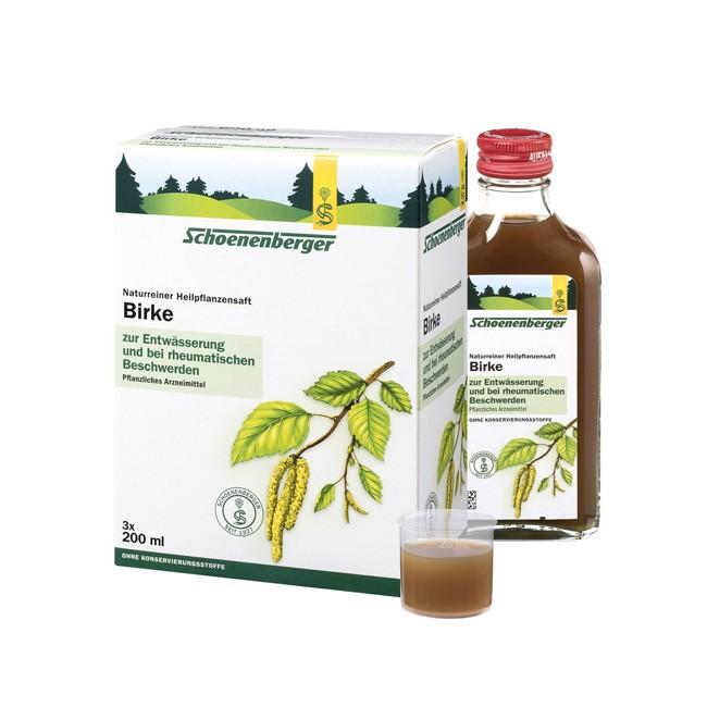 Schoenenberger Bio Birke Heilpflanzensaft 600ml lindert Rheumabeschwerden ohne Zusatz von Alkohol