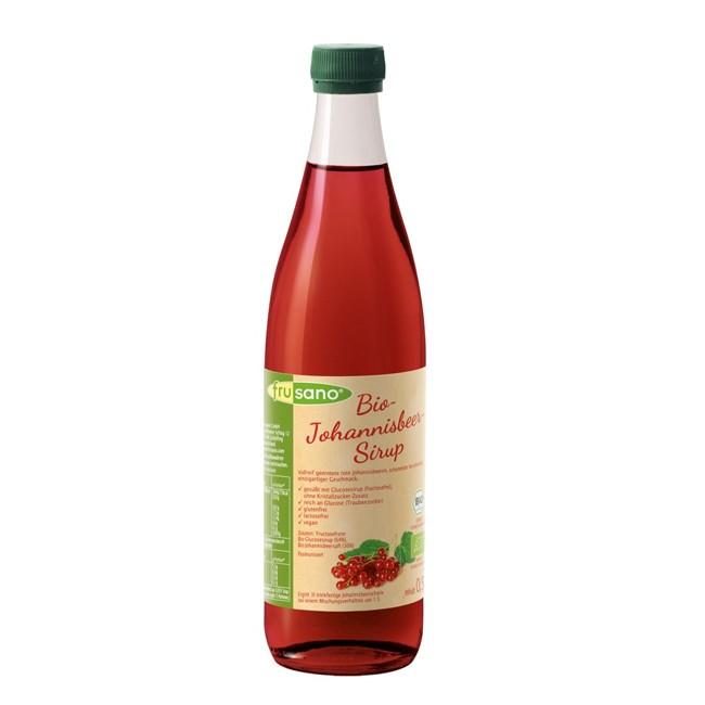 Frusano: Roter Johannisbeersirup, bio 0,5l