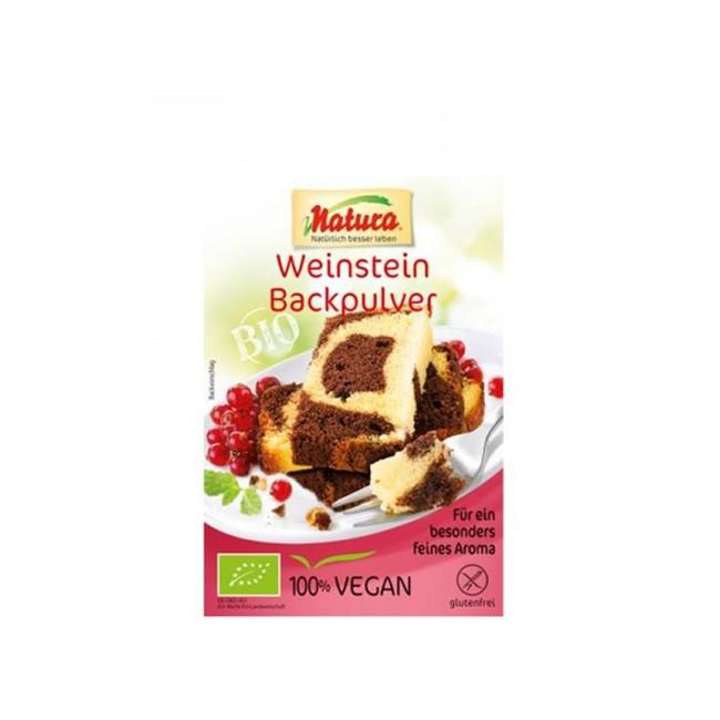 Weinstein Backpulver von Natura (3x18g), glutenfrei, vegan & ohne Phosphate
