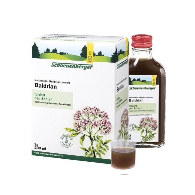 schlaffördernder naturreiner Bio Baldrian Heilpflanzensaft von Schoenenberger in der 600ml Packung