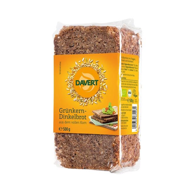 Davert Grünkern Dinkelbrot geeignet für ballaststoffreiche Ernährung bio 500g in Scheiben geschnitten