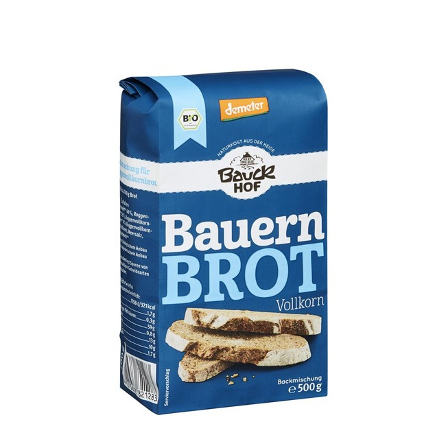 Bauckhof Backmischung Bauernbrot Vollkorn 500g
