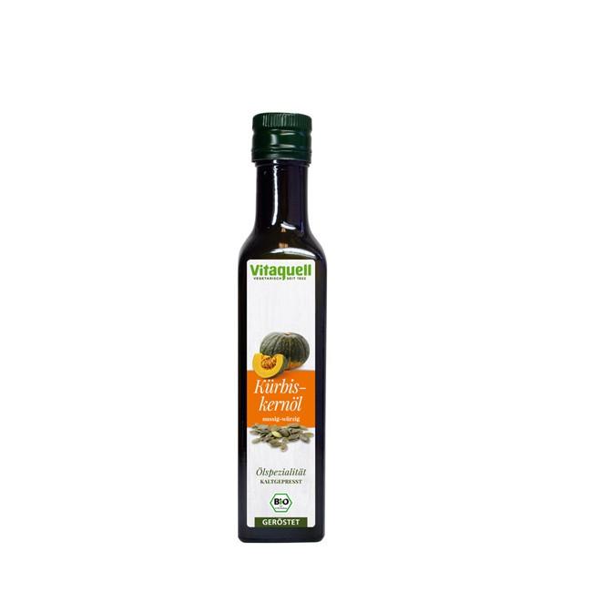 Vitaquell Kürbiskernöl geröstet, kaltgepresst bio  (250ml)