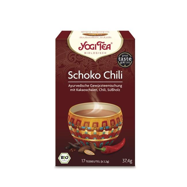 Yogi Tea Schoko Choco Chili anregend inspirierend sinnlich und intensi bio Anbau koscher vegan glutenfrei