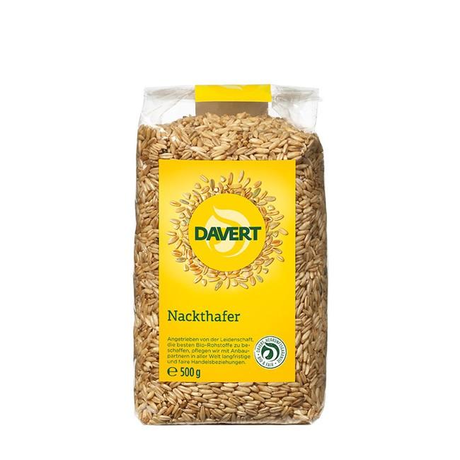 Bio Nackthafer von Davert (500g) -spelzfreie Sorte für Frischkornbreie
